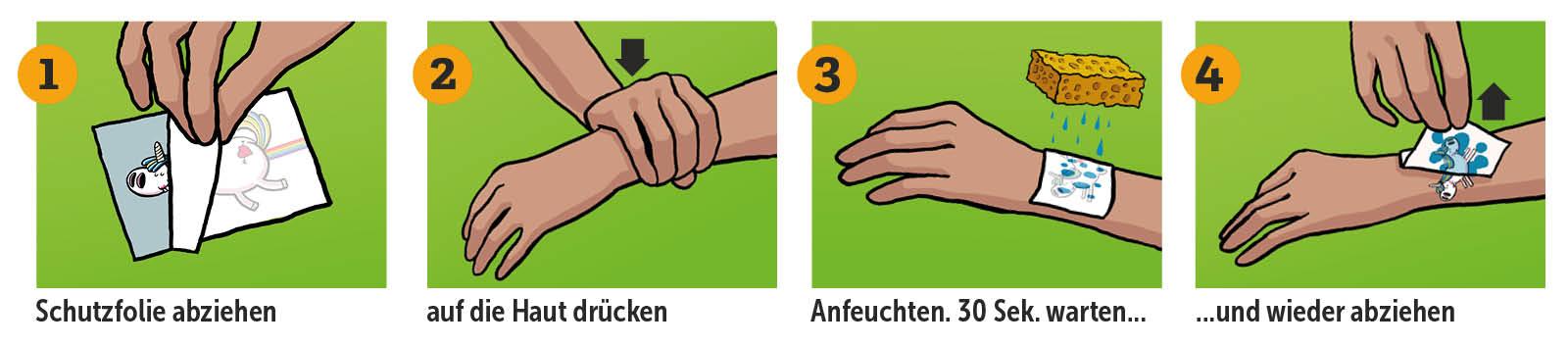 Tattoo-Sticker-Anleitung