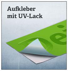Aufkleber mit UV-Lack
