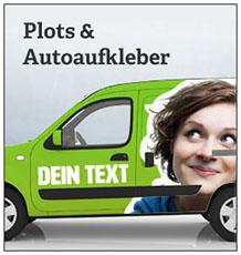 Plots-Autoaufkleber