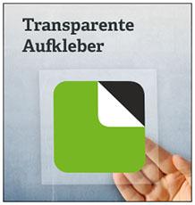 Transparente-Aufkleber