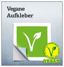 Vegane Aufkleber