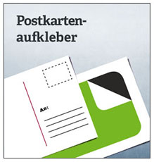 Postkarten Aufkleber