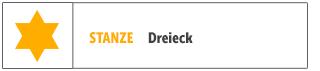 Dreieck-Stanze