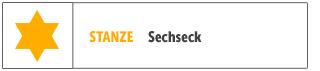 Sechseck-Stanzen