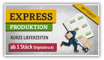Express-Lieferzeiten im Digitaldruck