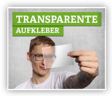 Aufkleber aus transparentem Material