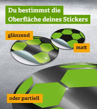 Offsetdruck - Sticker-Oberfläche
