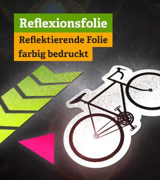 Reflexfolie -  reflektierende Aufkleber