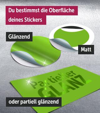 glänzende, matte Sticker