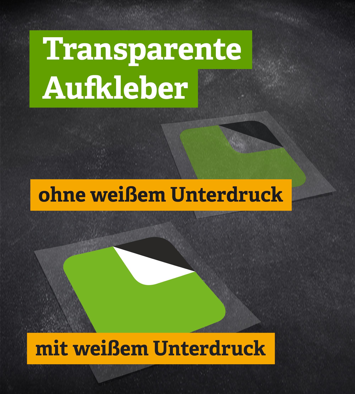 Offsetdruck - transparente Haftfolie