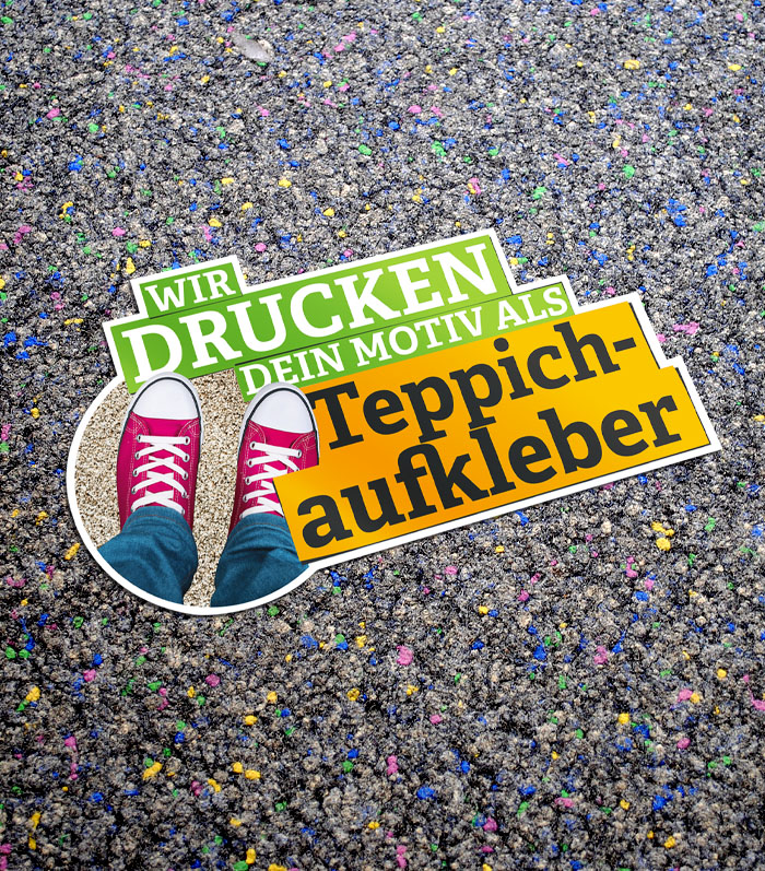 Teppichaufkleber - DeineStadtKlebt.de