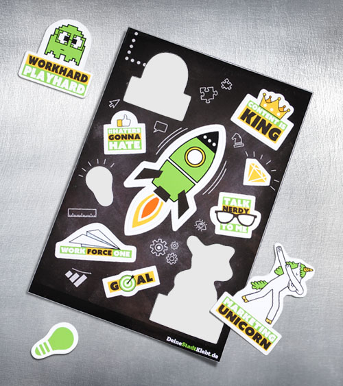 Sticker auf Bogen