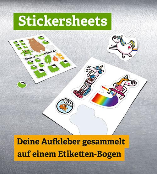 super stark haftende Stickersheets