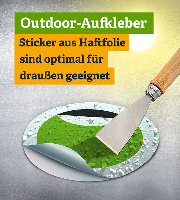 Outdoor Sticker - Offsetdruck