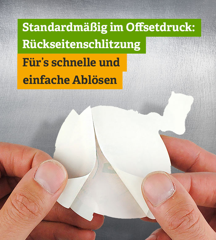 Sticker Rückseitenschlitzung - Split-Back