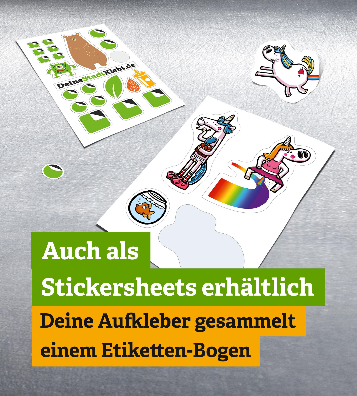 Stickersheets - Sticker auf einem Bogen