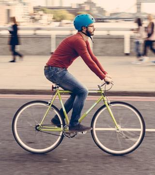 Sticker auf Fahrrad