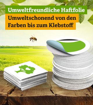 umweltfreundliche Sticker
