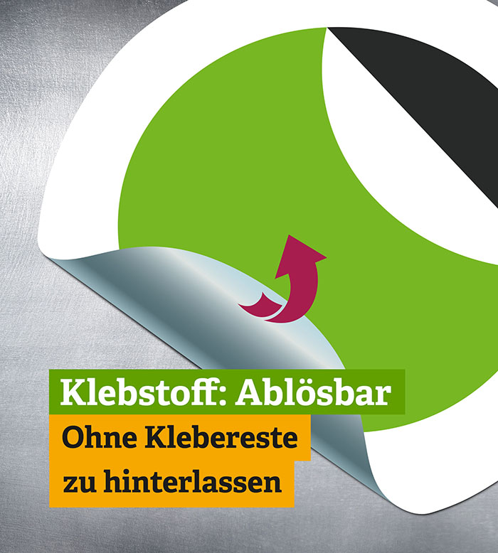 Ablösbare Sticker