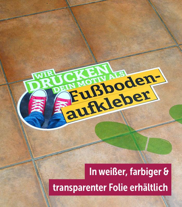 Fußbodenaufkleber - DeineStadtKlebt.de