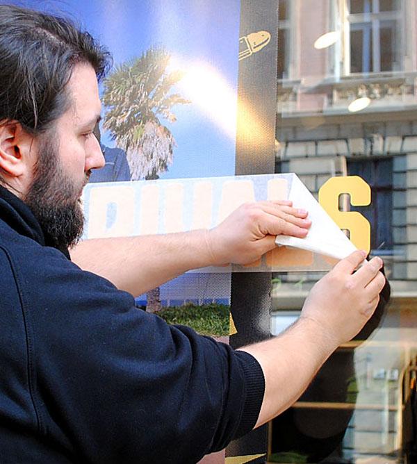 schaufensterbeschriftung - Verklebeservice