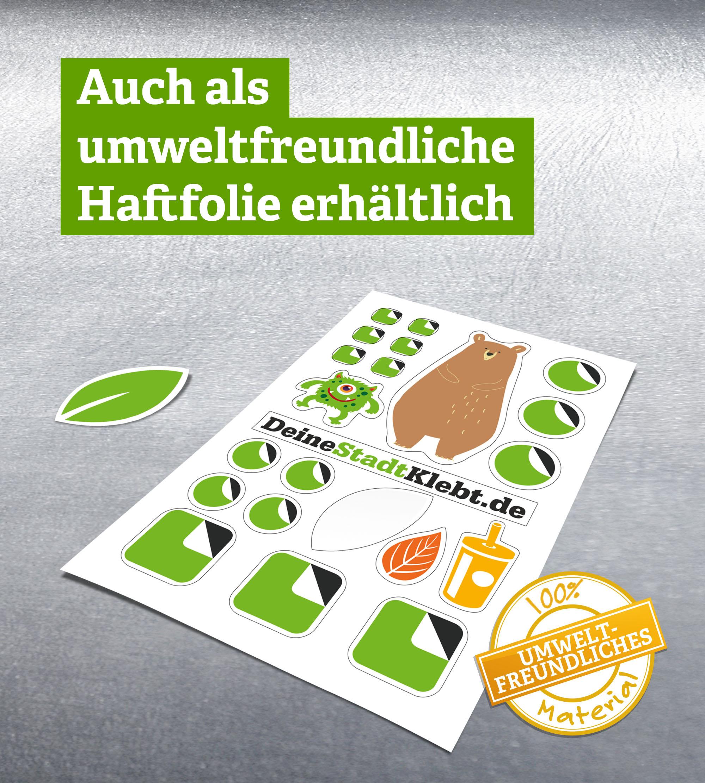 umweltfreundliche Stickersheets