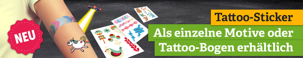 Tattoo-Sticker - Einzelne Motive oder Tattoo-Bogen