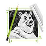 Bleistiftskizze Bär