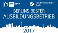 Berlins bester Ausbildungsbetrieb 2017