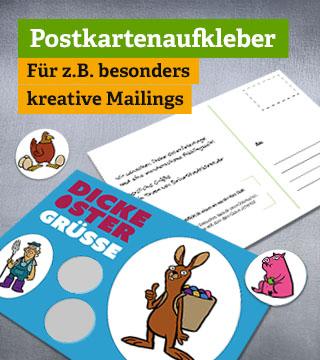Offsetdruck - Postkartenaufkleber