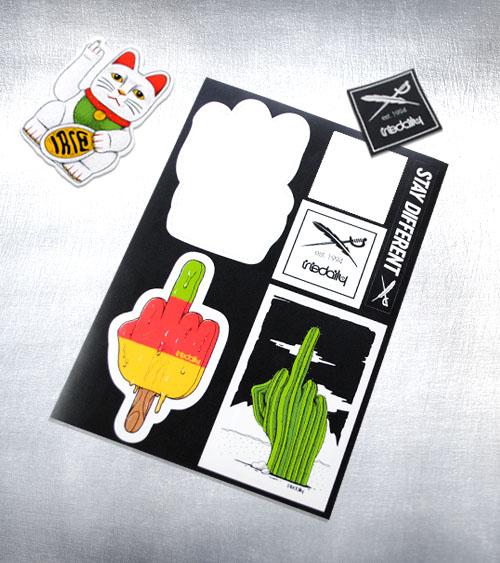 Freiformen Stickersheet