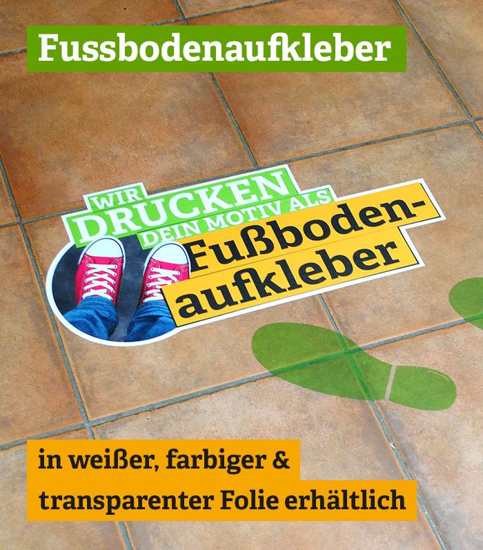 Fußbodenaufkleber - rutschfest und vielseitig
