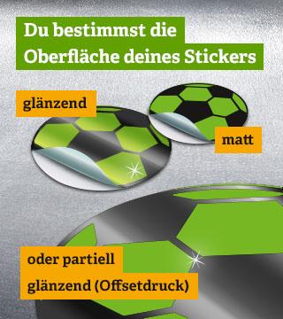 glänzende Sticker